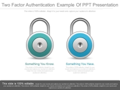 Two Factor Authentication Example Of Ppt Presentation