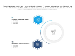 Two Factors Analysis Layout For Business Communication By Structure Ppt PowerPoint Presentation Outline Format PDF