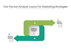 Two Factors Analysis Layout For Marketing Strategies Ppt PowerPoint Presentation Infographics Grid PDF