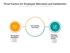 Two Factors For Employee Motivation And Satisfaction Ppt PowerPoint Presentation Icon Styles PDF