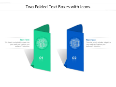 Two Folded Text Boxes With Icons Ppt PowerPoint Presentation Icon Deck PDF