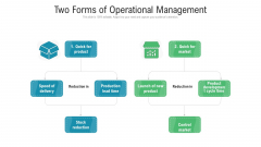 Two Forms Of Operational Management Ppt PowerPoint Presentation Professional Grid PDF