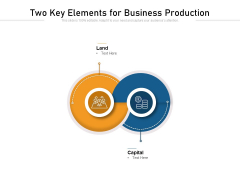 Two Key Elements For Business Production Ppt PowerPoint Presentation File Infographic Template PDF