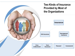 Two Kinds Of Insurance Provided By Most Of The Organizations Ppt PowerPoint Presentation File Diagrams PDF