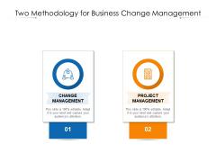 Two Methodology For Business Change Management Ppt PowerPoint Presentation Model Slide Download PDF