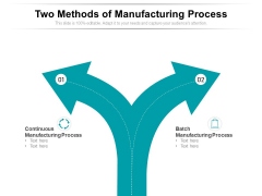 Two Methods Of Manufacturing Process Ppt PowerPoint Presentation Portfolio Themes PDF