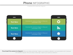 Two Mobiles For Exchange Of Information Powerpoint Slides