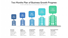 Two Months Plan Of Business Growth Progress Ppt Powerpoint Presentation Gallery Visual Aids PDF