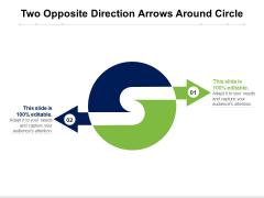 Two Opposite Direction Arrows Around Circle Ppt PowerPoint Presentation Portfolio Summary PDF