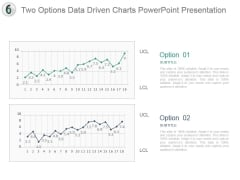 Two Options Data Driven Charts Powerpoint Presentation