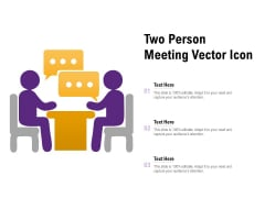 Two Person Meeting Vector Icon Ppt PowerPoint Presentation Professional Display