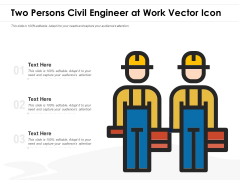 Two Persons Civil Engineer At Work Vector Icon Ppt PowerPoint Presentation Show Skills PDF