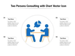 Two Persons Consulting With Chart Vector Icon Ppt PowerPoint Presentation Inspiration Mockup PDF