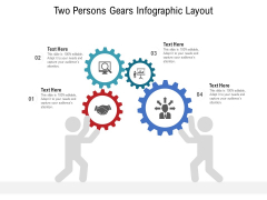 Two Persons Gears Infographic Layout Ppt PowerPoint Presentation File Slide Download PDF