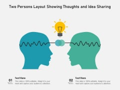 Two Persons Layout Showing Thoughts And Idea Sharing Ppt PowerPoint Presentation File Show PDF