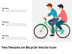 Two Persons On Bicycle Vector Icon Ppt PowerPoint Presentation File Samples PDF