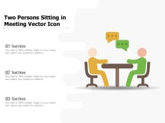 Two Persons Sitting In Meeting Vector Icon Ppt PowerPoint Presentation File Summary PDF