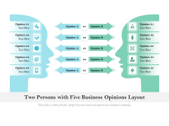 Two Persons With Five Business Opinions Layout Ppt PowerPoint Presentation Layouts Infographics PDF