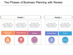 Two Phases Of Business Planning With Review Ppt PowerPoint Presentation Model Gallery PDF