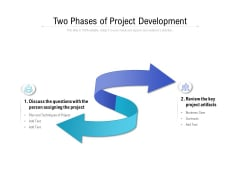 Two Phases Of Project Development Ppt PowerPoint Presentation Inspiration Smartart PDF