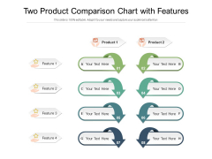 Two Product Comparison Chart With Features Ppt PowerPoint Presentation File Formats PDF
