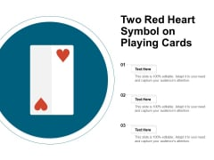 Two Red Heart Symbol On Playing Cards Ppt PowerPoint Presentation Inspiration Rules PDF