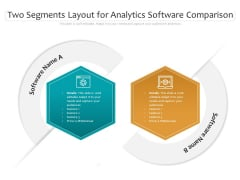Two Segments Layout For Analytics Software Comparison Ppt PowerPoint Presentation Portfolio Graphics Pictures PDF