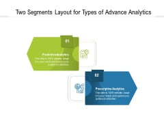 Two Segments Layout For Types Of Advance Analytics Ppt PowerPoint Presentation File Structure PDF
