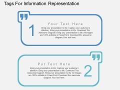 Two Staged Tags For Information Representation Powerpoint Template