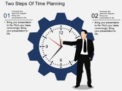 Two Steps Of Time Planning Powerpoint Template