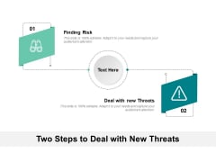 Two Steps To Deal With New Threats Ppt PowerPoint Presentation Gallery Examples PDF