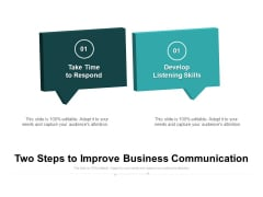 Two Steps To Improve Business Communication Ppt PowerPoint Presentation File Designs Download PDF