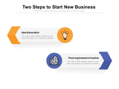 Two Steps To Start New Business Ppt PowerPoint Presentation Gallery Slideshow PDF