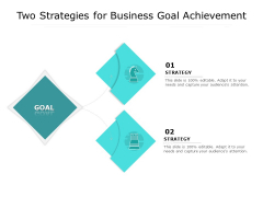 Two Strategies For Business Goal Achievement Ppt PowerPoint Presentation Layouts Samples PDF