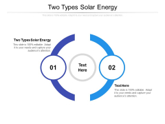 Two Types Solar Energy Ppt PowerPoint Presentation Inspiration Designs Cpb Pdf