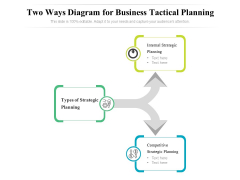 Two Ways Diagram For Business Tactical Planning Ppt PowerPoint Presentation Model Design Ideas PDF