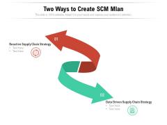 Two Ways To Create Scm Mlan Ppt PowerPoint Presentation Show Model PDF
