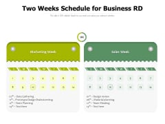 Two Weeks Schedule For Business RD Ppt PowerPoint Presentation Model Graphics Example PDF