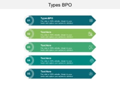 Types BPO Ppt PowerPoint Presentation Styles Layout Cpb