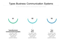 Types Business Communication Systems Ppt PowerPoint Presentation Inspiration Examples Cpb
