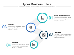 Types Business Ethics Ppt PowerPoint Presentation Styles Display Cpb