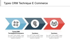 Types CRM Technique E Commerce Ppt PowerPoint Presentation Infographic Template Infographic Template Cpb