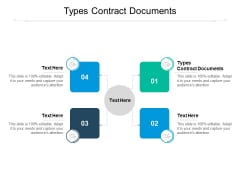 Types Contract Documents Ppt PowerPoint Presentation File Clipart Cpb Pdf