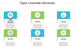 Types Corporate Structures Ppt PowerPoint Presentation Model Diagrams Cpb Pdf