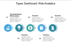 Types Dashboard Web Analytics Ppt PowerPoint Presentation Summary Layout Cpb