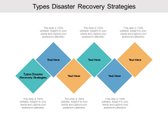 Types Disaster Recovery Strategies Ppt PowerPoint Presentation Ideas Files Cpb Pdf