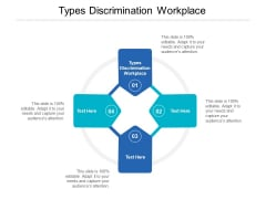 Types Discrimination Workplace Ppt PowerPoint Presentation Gallery Designs Cpb