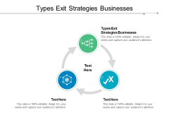 Types Exit Strategies Businesses Ppt PowerPoint Presentation Infographic Template Graphics Pictures Cpb