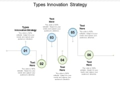 Types Innovation Strategy Ppt PowerPoint Presentation Show Graphics Cpb Pdf