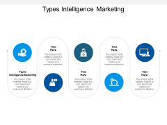 Types Intelligence Marketing Ppt PowerPoint Presentation Icon Show Cpb
